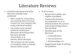 Literature Review Example Apa Style Literature Review Outline Sample Format Example Paper