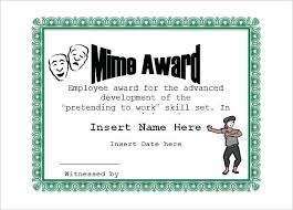 Funny Awards At Work Free Funny Employee Award Certificate Template Certificates