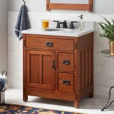 30 american craftsman vanity for undermount sink rustic oak