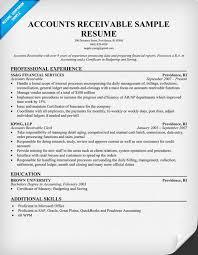 Account Receivable Resume Jmckell Com