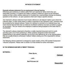 Written Witness Statement Template - Costumepartyrun