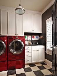 Red And Grey Decorating Decorating Small Laundry Room Decor Ideas With Grey Beadboard