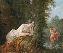 narcissus mythology  echo and narcissus louis jean francois lagrenee