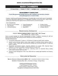 Management Consultant Resume Berathen Com
