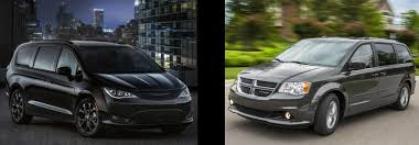 Minivan Comparison 2018 Chrysler Pacifica V Dodge Grand Caravan