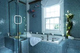 navy blue bathroom decor dark grey painted bathroom wall oval bathtub under storage white ceramic toilet