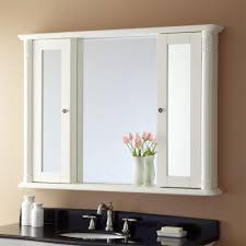 Bathroom Mirror Storage Awesome Modern Rectangle White Bathroom Mirror Storage Steel