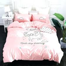 pink duvet sets unicorn bed set new pink unicorn bedding sets embroidery bed set double twin