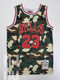 Michael Jordan Camo Hardwood Classics Basketball Jersey