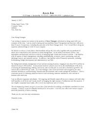 Retail Store Manager Cover Letter Outstanding Cover Letter Examples