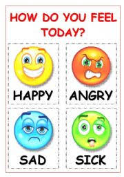 How Are You Feeling Today Printable Chart English Worksheets Feelings Worksheets Page 46