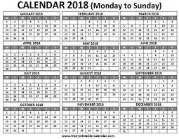 Free Printable Calendar 2018 For Free Download Pocket Calendar 2018