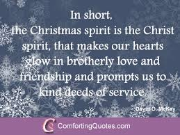 Christmas Spirit Quotes Extraordinary Religious Christmas Saying By David O McKay ComfortingQuotes