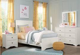 Belcourt Jr. White 5 Pc Full Panel Bedroom
