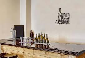 wine metal wall sculpture