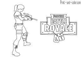 Fortnite Battle Royale Coloring Page Weapon Scar Assault Rifle