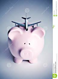 piggy bank with toy airplane royalty free stock photos  image