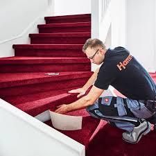 Beim teppich auf treppen verlegen geht man folgendermaßen vor: Treppenrenovierung Mit Teppichboden Witthus Hammer