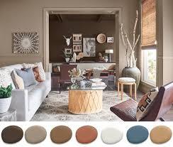 esta paleta recuerda al barro cocido cuero gastado y las mantas de lana tejidas la paleta tiene colores terrosos sutiles que puede apañ con toques