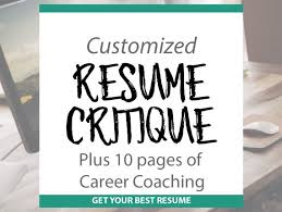Resume Critique Professional Resume Template And Guide Etsy Enchanting Resume Critique