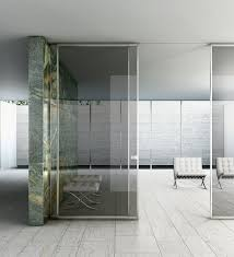 interior glass office doors. Fabulous Office Applying White Flooring Tile Combined With Interior Glass Doors Furnished By Padded Loveset In Armless Design And Modern Contemporary T