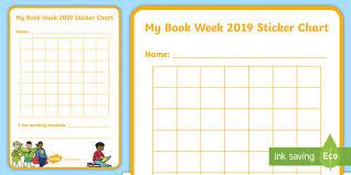 Do Reward Charts Work Book Week 2019 Sticker Reward Charts