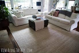 jute chenille rug in a living room review