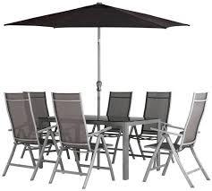 malibu 8 seater patio furniture set. collection malibu 6 seater steel patio set - black 8 furniture m