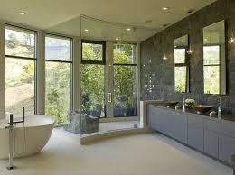 modern master bathroom. Impressive Modern Master Bathroom Ideas With Nice Bathtub And Modernized Sinks