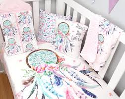 Dream Catcher Crib Bedding Set Dreamcatcher bedding Etsy 2