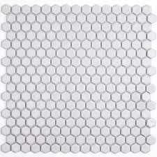 splashback tile bliss hexagon polished white ceramic mosaic floor and wall tile 3 in