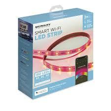 Car Led Light Strips Walmart Merkury Innovations Color Changing Smart Wi Fi Led Light Strip Kit 180 Super Bright Leds 6 5 Ft Walmart Com