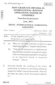 international business finance management commerce  international business finance 2013 management commerce masters university exam indira gandhi