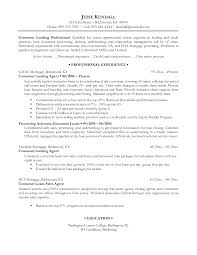 Mesmerizing Sample Resume For Loan Processor On Loan Processor