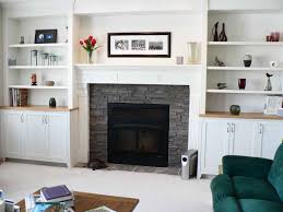 drop dead gorgeous living room decoration using wood white mantel shelf over fireplace including light grey stone fireplace surround and white wood wall