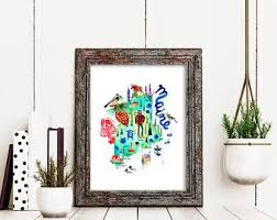 Browse our online collection of distinctive wall decor — colorful mirrors, carvings, sculptures, and textiles sure to add character to your space. Maine Wall Art By Sara Franklin Print Gift Set Of 3 Dorm Etsy In 2020 Colorful Art Prints Art Print Gifts Travel Gallery Wall