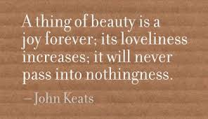 A Thing Of Beauty Is A Joy Forever Quote Best Of A Thing Of Beauty Is A Joy ForeverIts Loveliness Increases Beauty