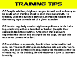 Arnold Exercise Chart The Ultimate Arnold Training Guide A1supplements Com Articles