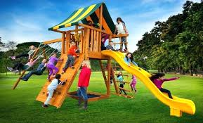 ultimate wooden with slide backyard playsets big cedarbrook playset play set 1