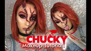 female chucky makeup tutorial ali julia hair