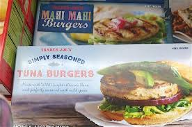 mahi mahi and salmon burgers from the healthiest foods you can at trader joe s slideshow the daily meal