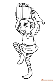 Christmas elf coloring pages can fill your christmas with magic. Elf Coloring Pages Incredible Free Printable Collection