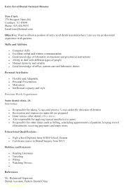 dental assistant resume objectives dental assistant resumes creer pro