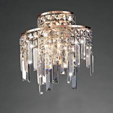 maddison 2 light wall fitting in rose gold with crystal decoration