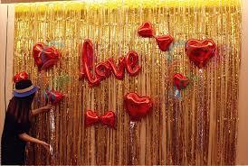 gold metallic shiny tinsel fringe curtain foil fringe door curtain
