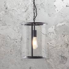 clear glass cylinder pendant light