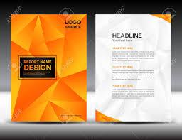 Orange Cover Annual Report Design Illustration Cover Design
