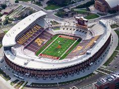 Minnesota Golden Gophers Stadium Seating Chart 16 Best Favorite Stadiums Images In 2012 Football Stadiums