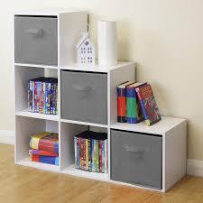 kids bedroom storage. Delighful Bedroom Sentinel White 6 Cube Kids ToyGames Storage Unit GirlsBoys Bedroom  Shelves 3 Grey Throughout A