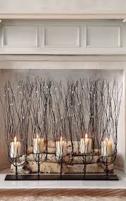 adorable fireplace candle displays for any interior digsdigs electric gas options wood mantle media console can